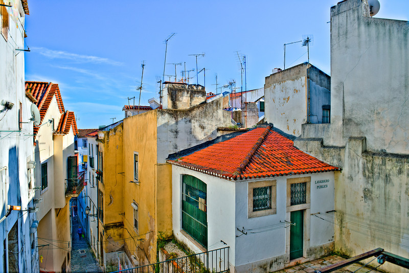 LISBON ROOFTOPS AND ANTENNAS