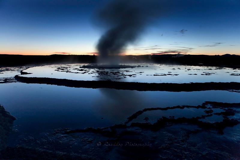 Great Fountain Geyser Civil twilight