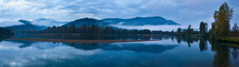 Coeur d'Alene River stiched Pano