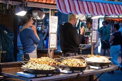 Food stall, Wenceslas Square, Prague