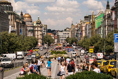 Street view from Wenceslas Square