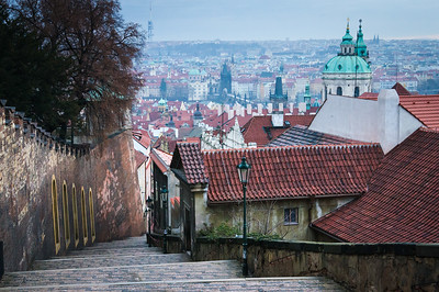 Prague from Castle hill