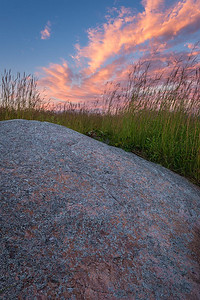 Bluestem, Quartzite & Sunset