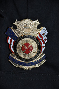 Our 2009 badge.  Only allowed to be worn on the uniform from Nov through Jan of that year.