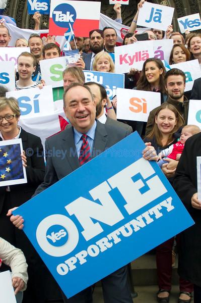 First Minister, Alex Salmond.