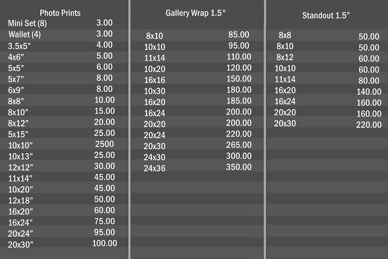 Price list for Customers copy