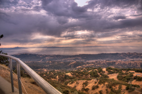 View from atop Mount Hamilton, CA