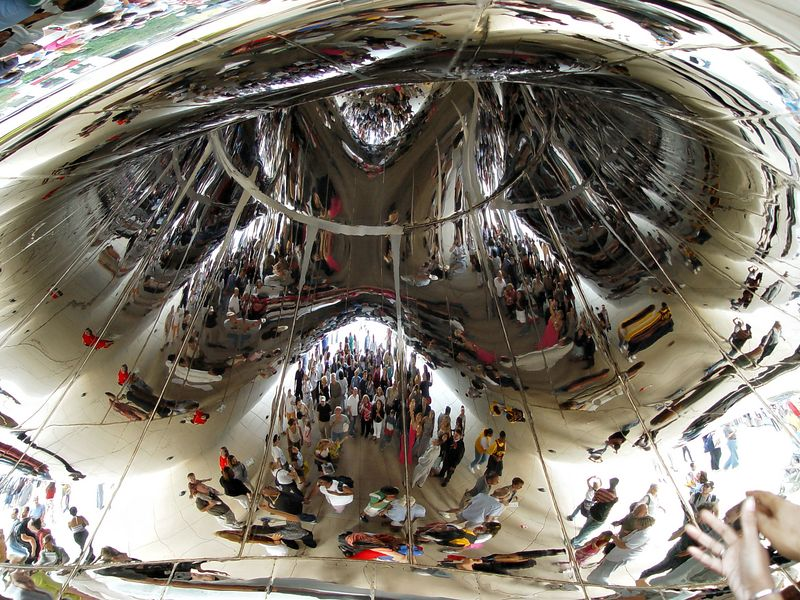The different reflections of its observers makes the Cloud Gate a continual source of interesting photos (in my opinion).