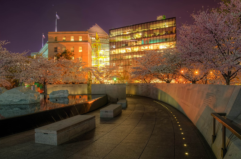 Japanese American Memorial during the National Cherry Blossom Festival 2013 - HDR