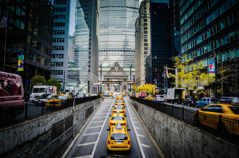 Park Ave, looking North towards Grand Central Terminal