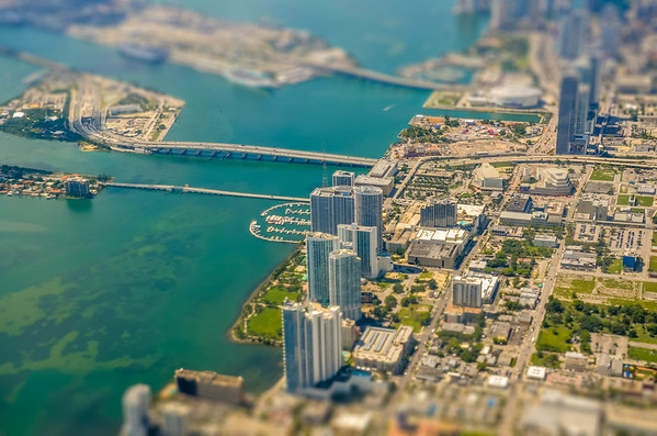 Miami Tilt-Shift image from a flight back to New York City.