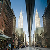 Chrysler Building reflection at the corner of 42nd St & Madison Ave.