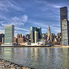 New York City Midtown, viewed from FDR 4 Freedom Park on Roosevelt Island.