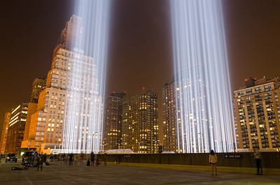 Tribute in Light 9-11-2013  at Battery Parking Garage