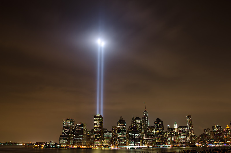 Tribute in Lights from Brooklyn Promenade