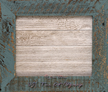 Wood Board Framed in Vintage Frame