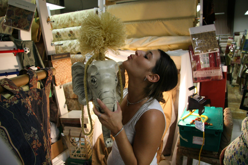 Behind the scenes outake...  Yes you are witness to Elephant Love...