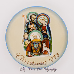 "Vintage Sister Berta Hummel Christmas Plate (1973) ""The Nativity"" by Schmid Bros. Limited Edition"
