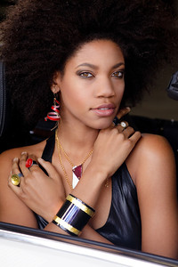 Look book for http://minabea.com/product-category/crash/  Crash by Minabea - Eco-friendly jewelry made from luxury cars Designer: Christi Schimpke Photograph: Jasmine Lord Make Up: Marlene Aguirre Hair: Roe Mattar & Tobi Lyons Stylist: April Alexander Assistant: Reuben Reynoso Model: Joy Green