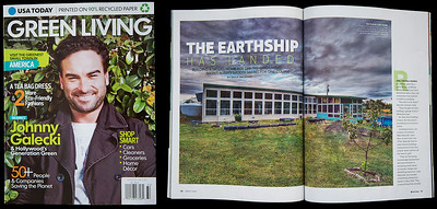 Publication in USA Today, in their Green Living Magazine. The article is called 'The Earthship Has Landed' by David Macaulay. Another nice national publication for Star Path Images!