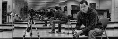 """""""Photo a Day for a Year"""": Wednesday January 6, 2010, 2:00pm <br /> ...my best dance move in one of the dance studios at St. Lawrence College - students don't return until next week."""