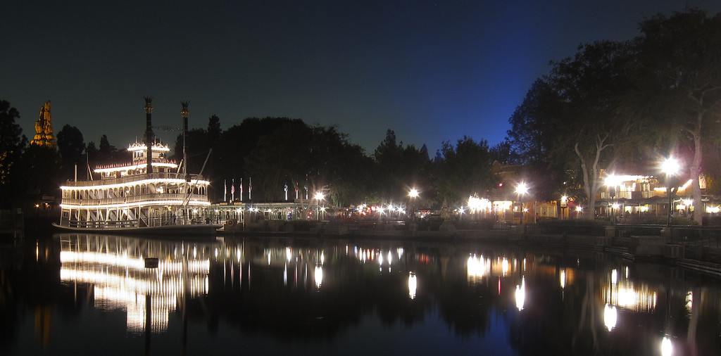Day 107 - Disneyland at night.  15 second