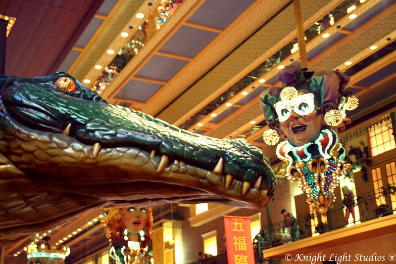 Day 57 - The Orleans Hotel in Las Vegas - The Gator watches all.