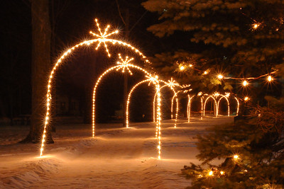 12/26/10 - A lighted path through the Village Park.