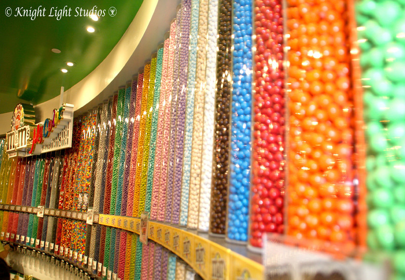 Day 59 - the M&M Store in Vegas.   Again, with the Patterns and Colors.   And the line of people with cameras who, after me, decided that this would make a fun picture.<br /> 22 colors/flavors and a ton of mixes.  (both M&M and Peanut)  YUMMMM