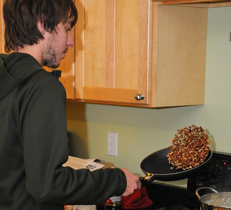"11/24/10 - With Thanksgiving approaching several ""cooks"" contribute their skills towards the preparation of the feast."