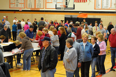 12/5/10 - Once again hundreds of people gathered in the Middle School Gym to assemble packages that will be sent to service men and women.  This photo shows about a third of the people that came out to help.  This link shows more details http://larryjose.smugmug.com/Events/Assembling-packages-for/14944930_ETmyP#1115824991_GfrZ5