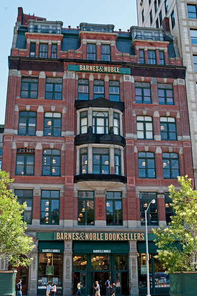 Barnes and Noble, NYC flagship store. Books are my first love have spent many many many happy hours in this store.