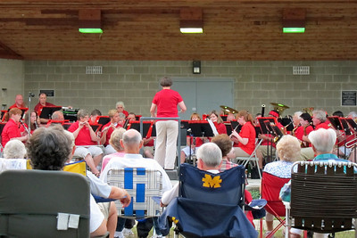 Week 30 - We spent a pleasant evening in Marshall, MI listening to a concert in the park.