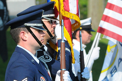 Week 22 - Several military units were present for the local Memorial Day Parade.  Here is a portion of the U.S. Air Force color guard.
