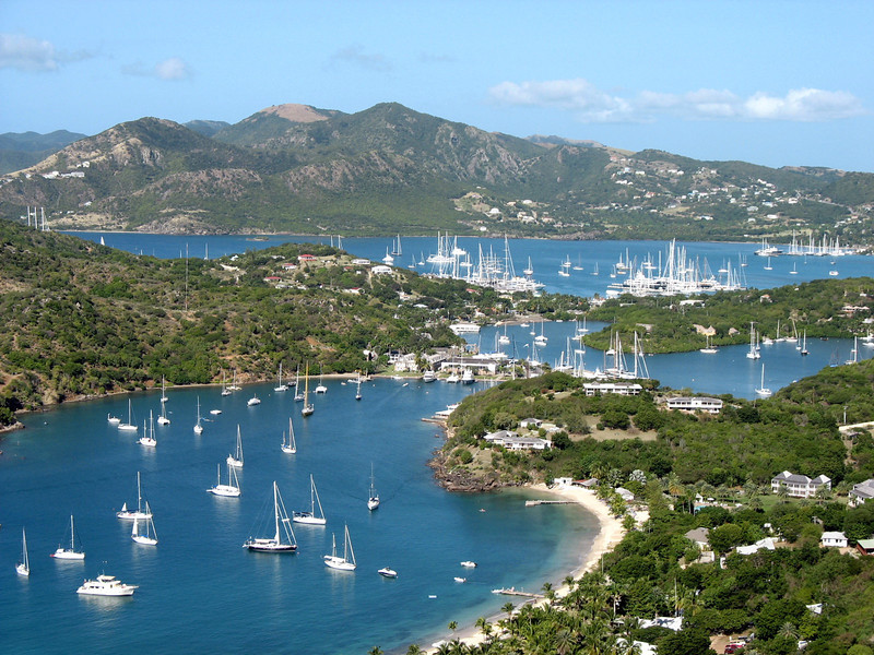Oh, it's another from the files as I've been running around all day today.This is a view of English Harbor, Antigua from atop Shirley Heights. A little slice of heaven on earth. Wish we were there right about now. (12.1.2011)