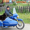 Some people take their dogs everywhere. (Ivanovskoye, Amur Region) (7.20.2011)