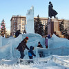 Ice maze under Lenin in Chelyabinsk. (12.29.2011)<br /> <br /> Thanks for your [undeserved] comments yesterday - looked at it on another computer this A.M. & was really upset by how bad it was - yikes!<br /> <br /> Just back from my last shopping of the year - what a nightmare! Unbelievably crowded at the supermarket & the prices were more obscene than usual - you don't even want to know my grocery bill, though they still keep the price of vodka low. Meanwhile our expensive Danish holiday tree has become petrified - just a bad day all around. Hope you're having a good one. <br /> <br /> FYI, Moscow has dropped from the #1 most expensive city in the world to #4. To give you some perspective London's at #18 & NYC at #32.