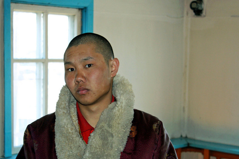 Monk at the Tsugol Datsan. (Aginsk, Russia) (5.4.2011)