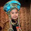 Buryat girl dressed in the latest fashion during a show at the Fashion Theater in Mogoytuy in the Transbaikal region of Siberia. (4.6.2011)