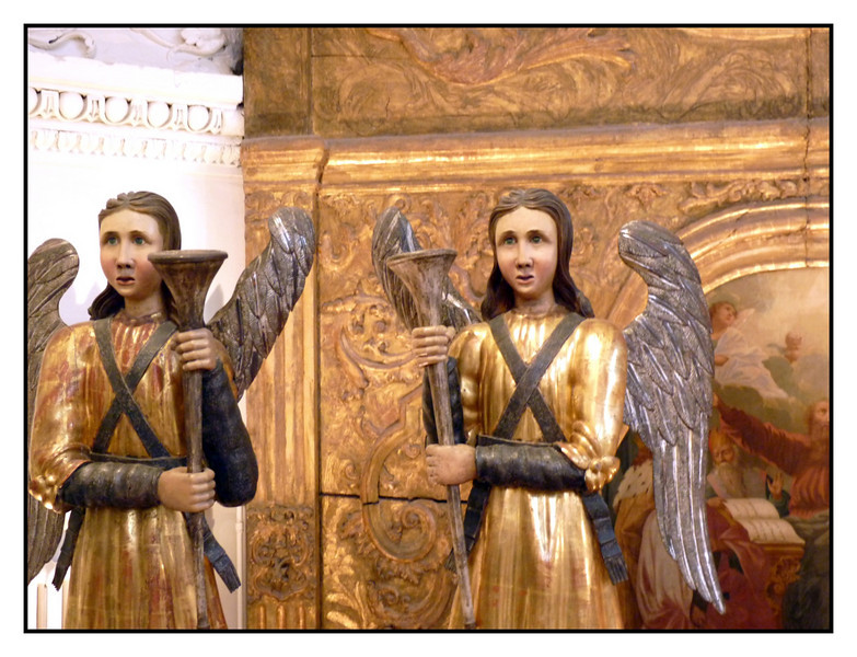 Angels & blessings for Thanksgiving. <br /> <br /> These Prikamye wooden sculptures date back to the 17th century. The Perm State Museum has a marvelous collection of these religious figures done in a primitive style. They are truly unique & wonderful.<br /> <br /> Have a wonderful Thanksgiving!<br /> <br /> Thanks for your feedback on yesterday's shot.