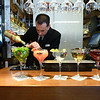 Cocktails anyone? Bartender mixing drinks in Madrid's Mercado San Miguel. (9.28.2011)