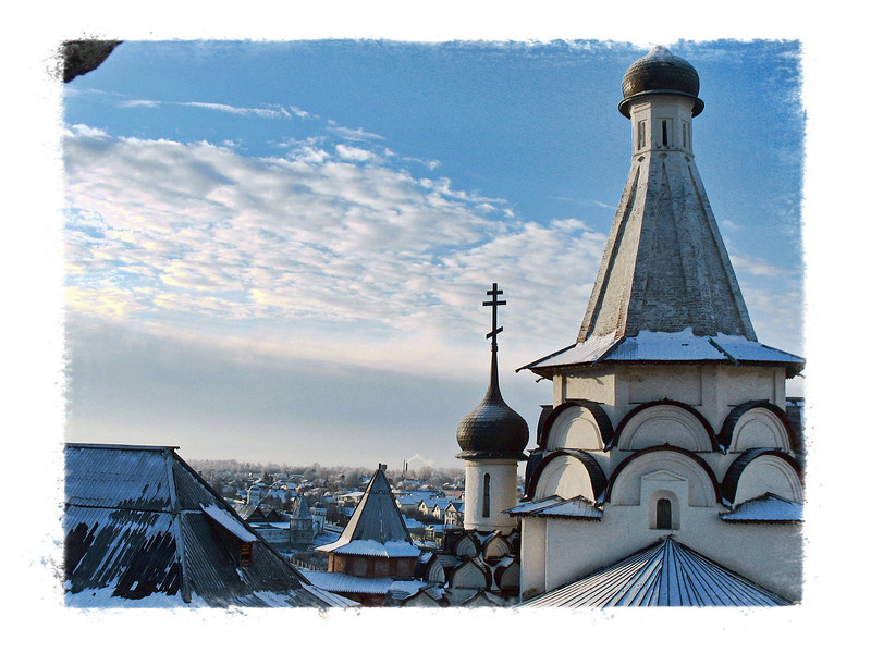 Suzdal in blue. (2.29.2012)