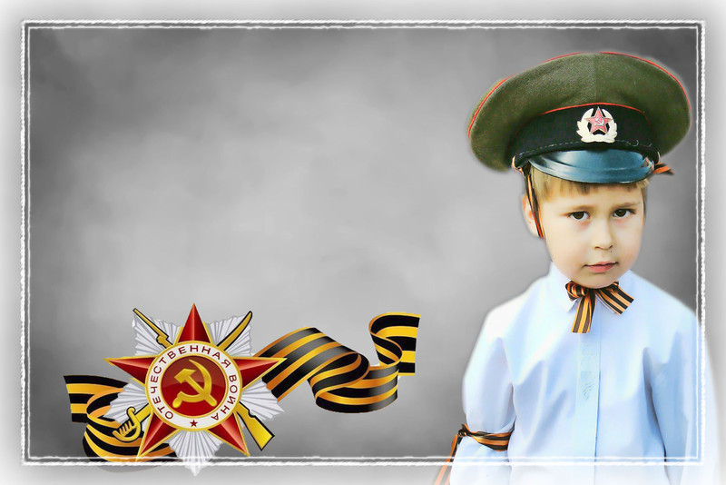 Future soldier honoring Victory Day. (5.7.2012)<br /> <br /> For much of the world, tomorrow marks Victory Day, the end of WWII. Because of the time difference, Russia celebrates on May 9th. This is a reworked image of a young boy attending a previous year's celebration. The medal is one of the highest honors awarded for valor during WWII. The ribbon of St. George was established in 1769, but is presently associated with victory in WWII. Most people will tie this ribbon to their cars over the next few days. <br /> <br /> Remember, most of us in the Community were Allies; so please, if you don't like this image, just pass on by. Let's try to maintain a civil community...