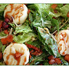 Salads as many of us know them are relatively new in Russia. Caesar & Greek salads are now on every menu though they're often overflowing with peppers & stale-prepackaged croutons. Some, such as this, go beyond the usual. This baked feta with greens, sun dried tomatoes, sprouts [hope they weren't from Germany], & pomegranate seeds in a pomegranate dressing was spot-on and delicious. (7.1.2011)
