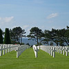 In honor of Memorial Day weekend, here's one from our archives. This is the American Cemetery, Colleville-sur-Mer, overlooking Omaha Beach in Normandy. There are 9,383 U.S. service men & 4 women buried here. The cemetery remains U.S. territory.