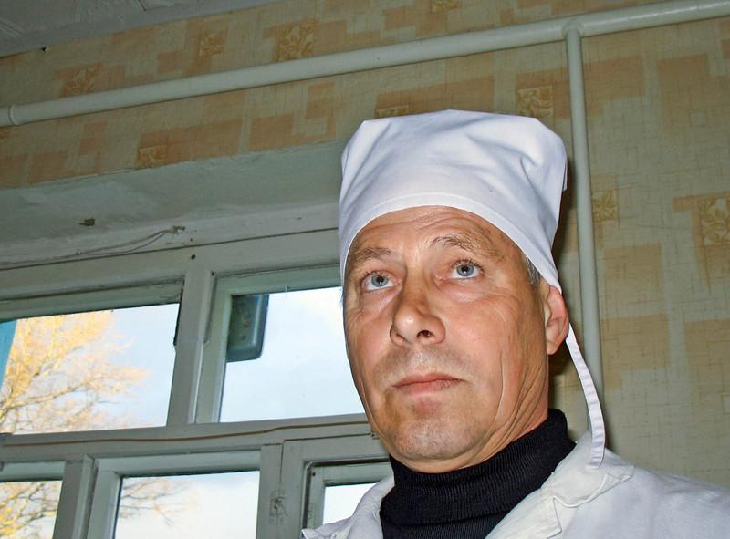 Blue-eyed Russian village veterinarian.