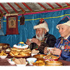 Elders drinking tea in honor of Sagaalgan, the White Month, which starts today & celebrates the Buryat New Year. From our archives. (2.22.2012)