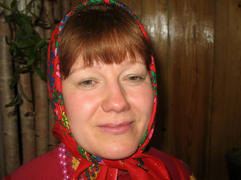 Komi-Permyak woman. (Parmailovo Village, Perm Region, Russia) (RS)