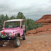 Didn't have time to post or comment yesterday & today won't be much better, so here's one from our Arizona trip. We took a Pink Jeep tour while there & here's our jeep parked at our 1st stop atop Submarine rock. Highly recommend this tour if you make it to Sedona. <br /> <br /> Hope to catch up with commenting tomorrow & hope everyone had a good weekend. (03.07.11)