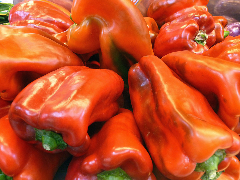 Peppers in the market. (11.7.2011)